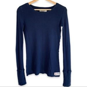 Roots Canada Navy Waffle knit Top